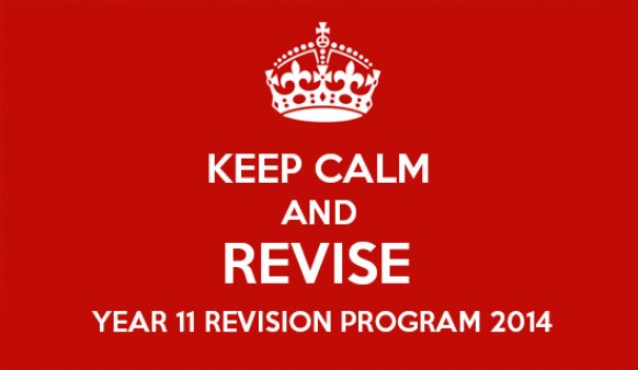 Year 11 Revision Program 2014